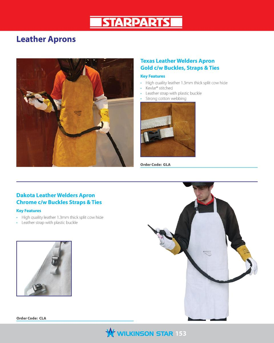 Leather Aprons Texas Leather Welders Apron Gold c w Buckles, Straps   Ties Key Features                  High quality leat...