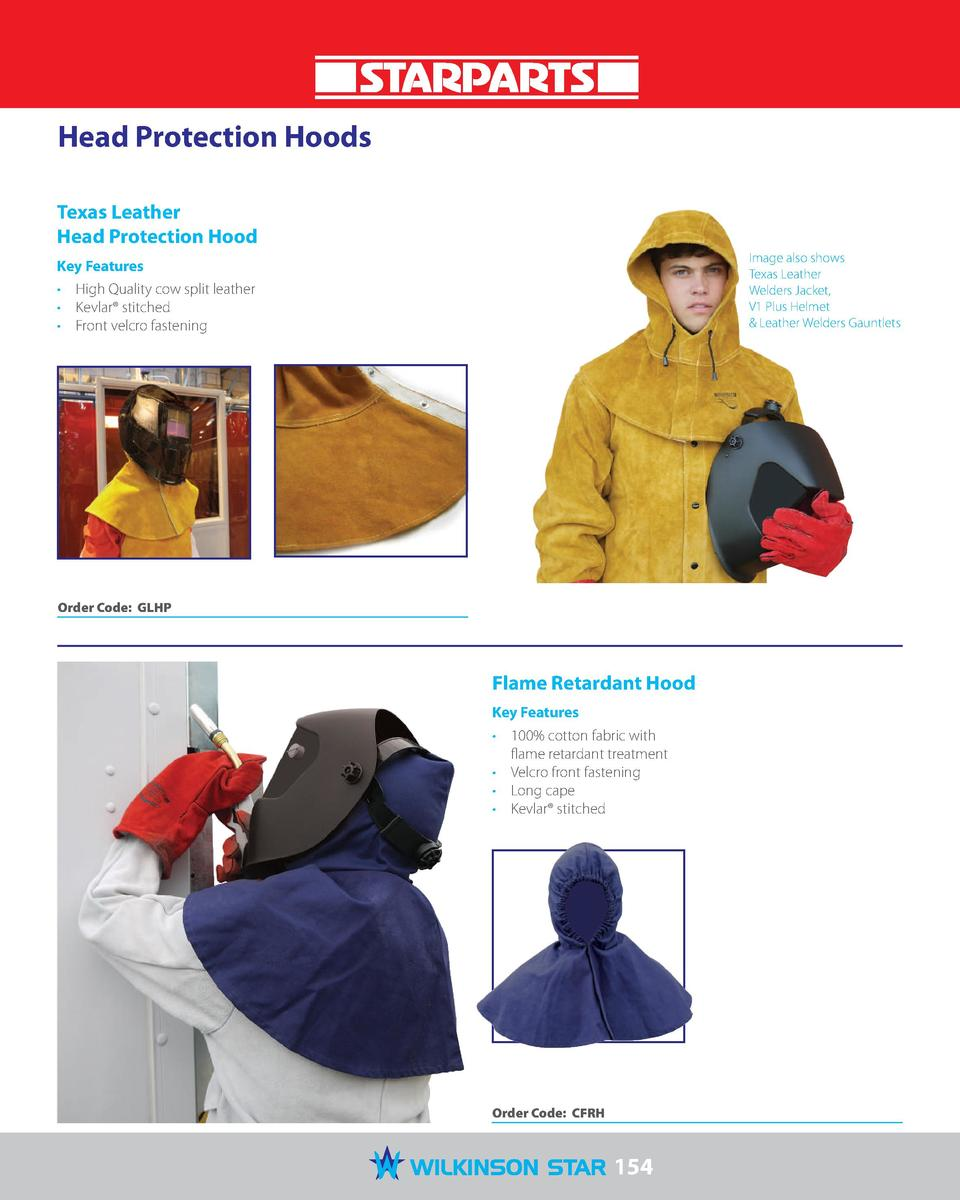 Head Protection Hoods Texas Leather Head Protection Hood Image also shows Texas Leather Welders Jacket, V1 Plus Helmet   L...