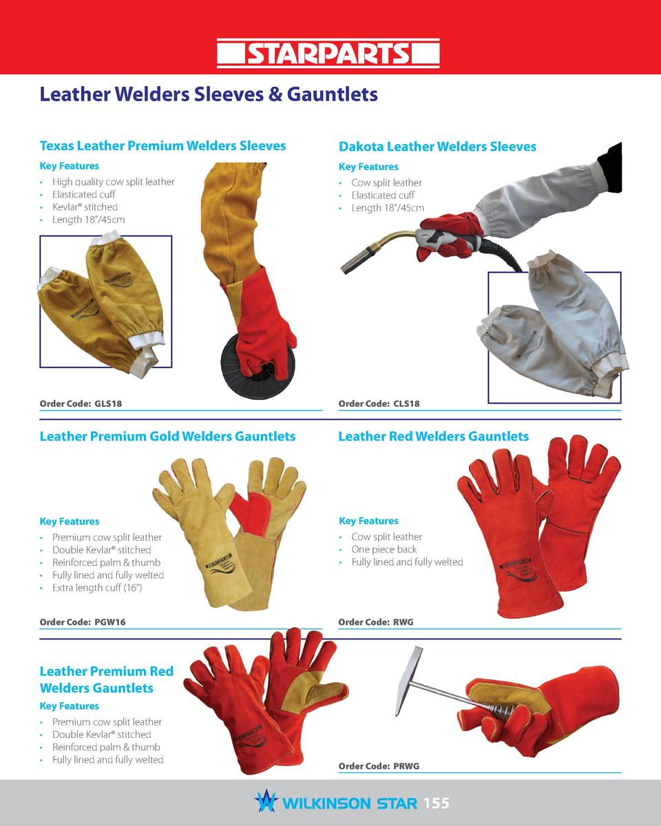 Leather Welders Sleeves   Gauntlets Texas Leather Premium Welders Sleeves  Dakota Leather Welders Sleeves  Key Features  K...
