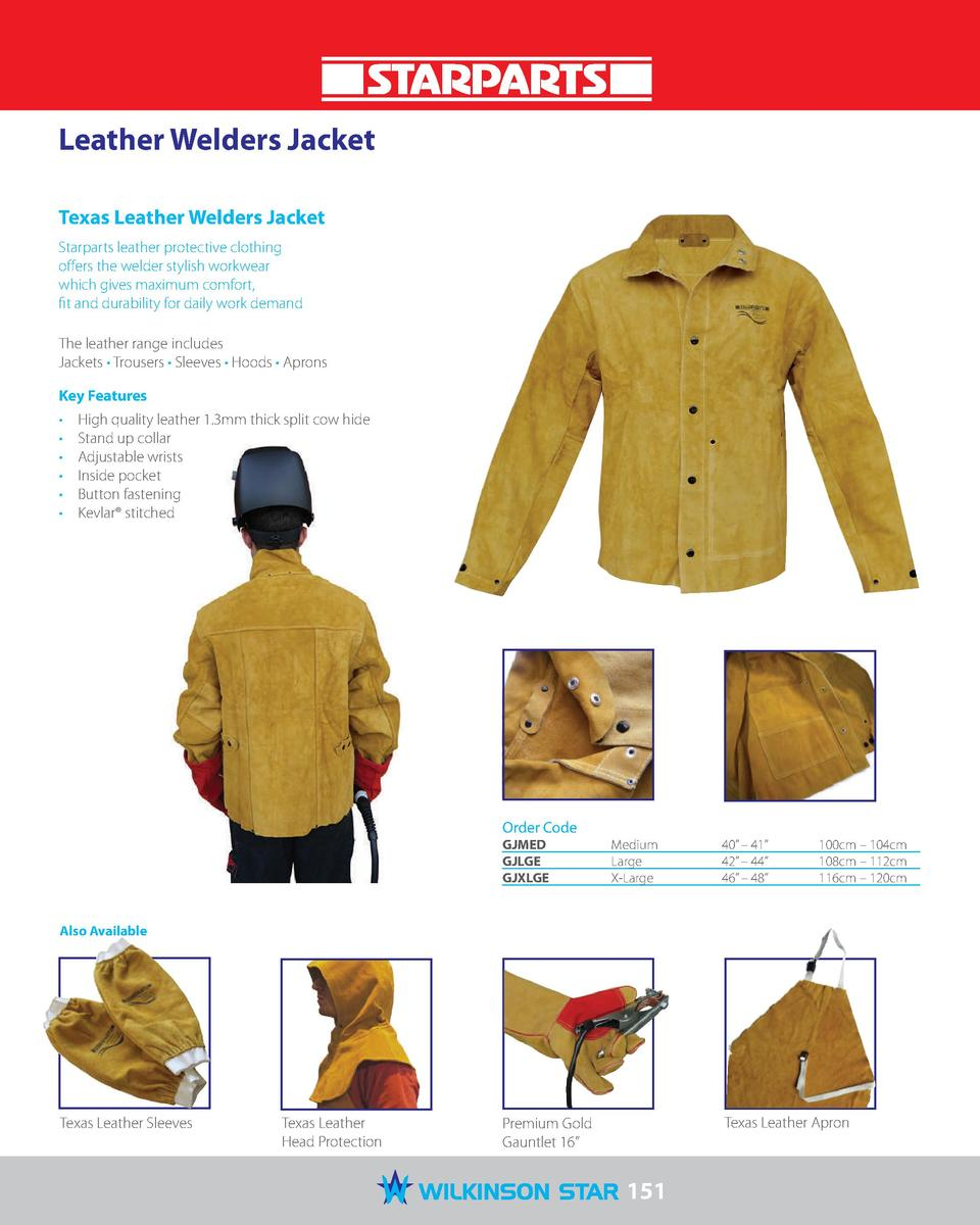 Leather Welders Jacket Texas Leather Welders Jacket Starparts leather protective clothing offers the welder stylish workwe...