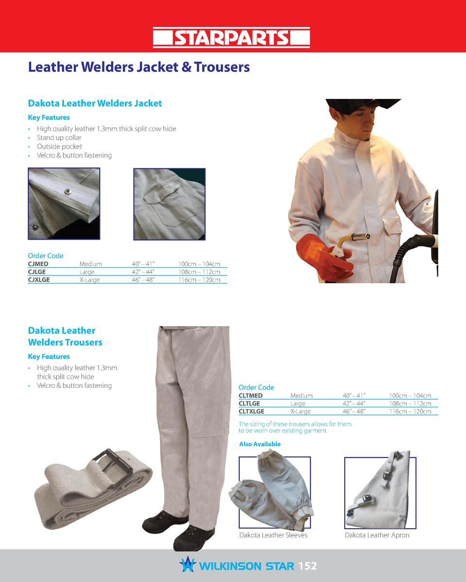 Leather Welders Jacket   Trousers Dakota Leather Welders Jacket Key Features                  High quality leather 1.3mm t...