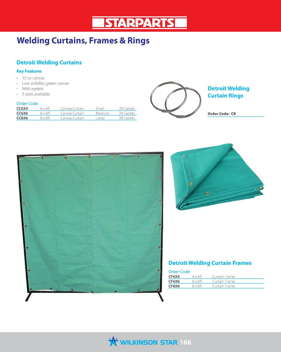 Welding Curtains, Frames   Rings Detroit Welding Curtains Key Features                      15 oz canvas Low visibility gr...