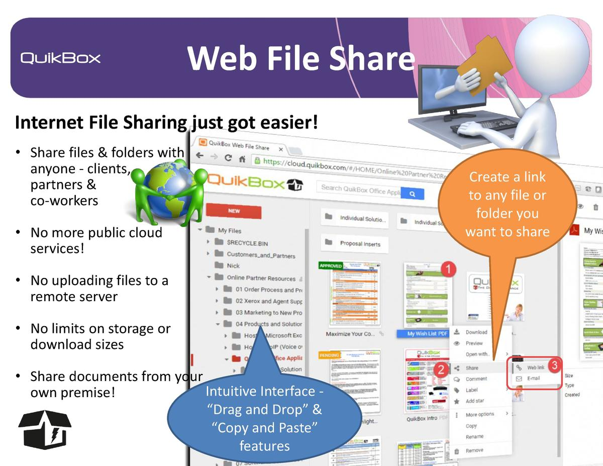 Web File Share Internet File Sharing just got easier      Share files   folders with anyone - clients, partners   co-worke...