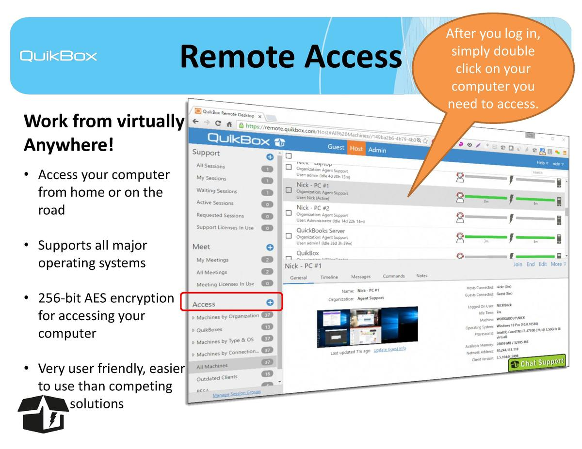 Remote Access Work from virtually Anywhere      Access your computer from home or on the road     Supports all major opera...