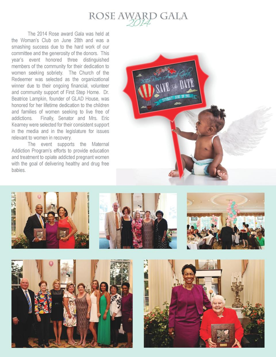 istock Rose Award Gala 2014 sign babies- 35 cred The 2014 Rose award Gala was held at the Woman   s Club on June 28th and ...