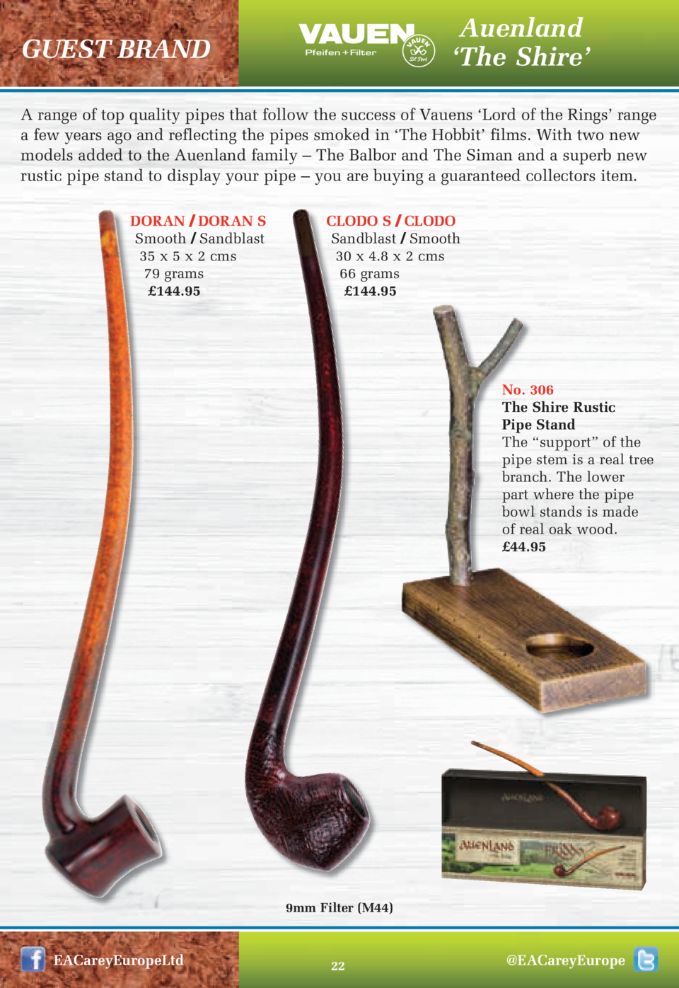 Auenland    The Shire     GUEST BRAND  A range of top quality pipes that follow the success of Vauens    Lord of the Rings...