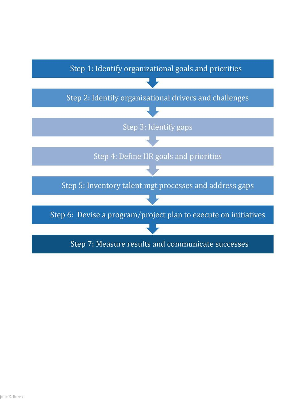 Step 1  Identify organizational goals and priorities Step 2  Identify organizational drivers and challenges Step 3  Identi...