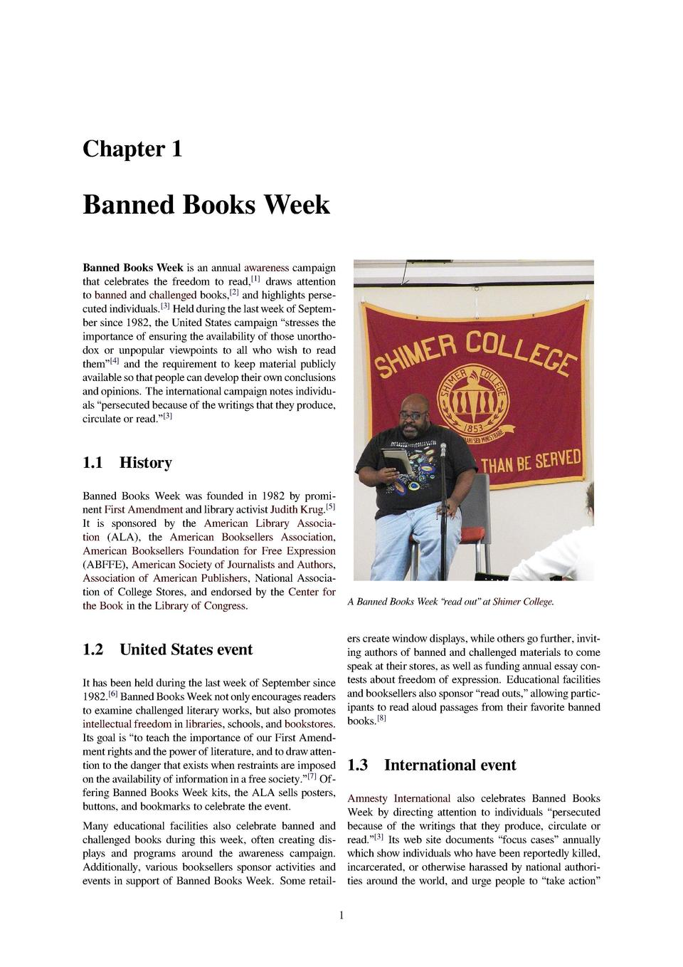 Chapter 1 Banned Books Week Banned Books Week is an annual awareness  campaign that celebrates the