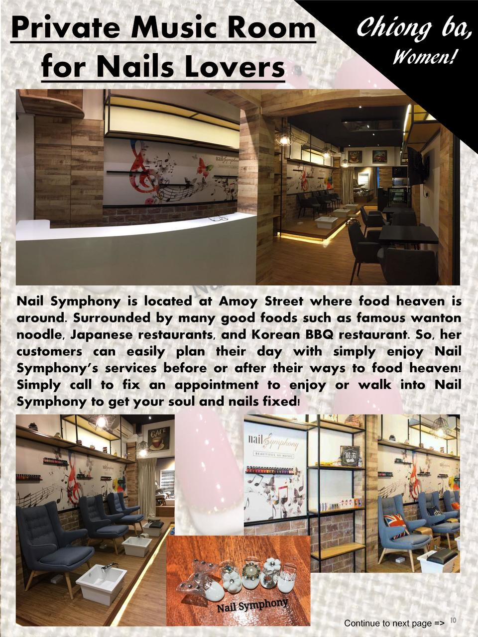 Chiong ba, Women   Nail Symphony is located at Amoy Street where food heaven is around. Surrounded by many good foods such...