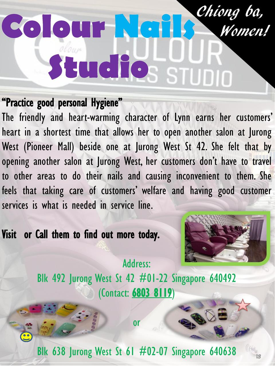 Colour Nails Studio  Chiong ba, Women      Practice good personal Hygiene    The friendly and heart-warming character of L...