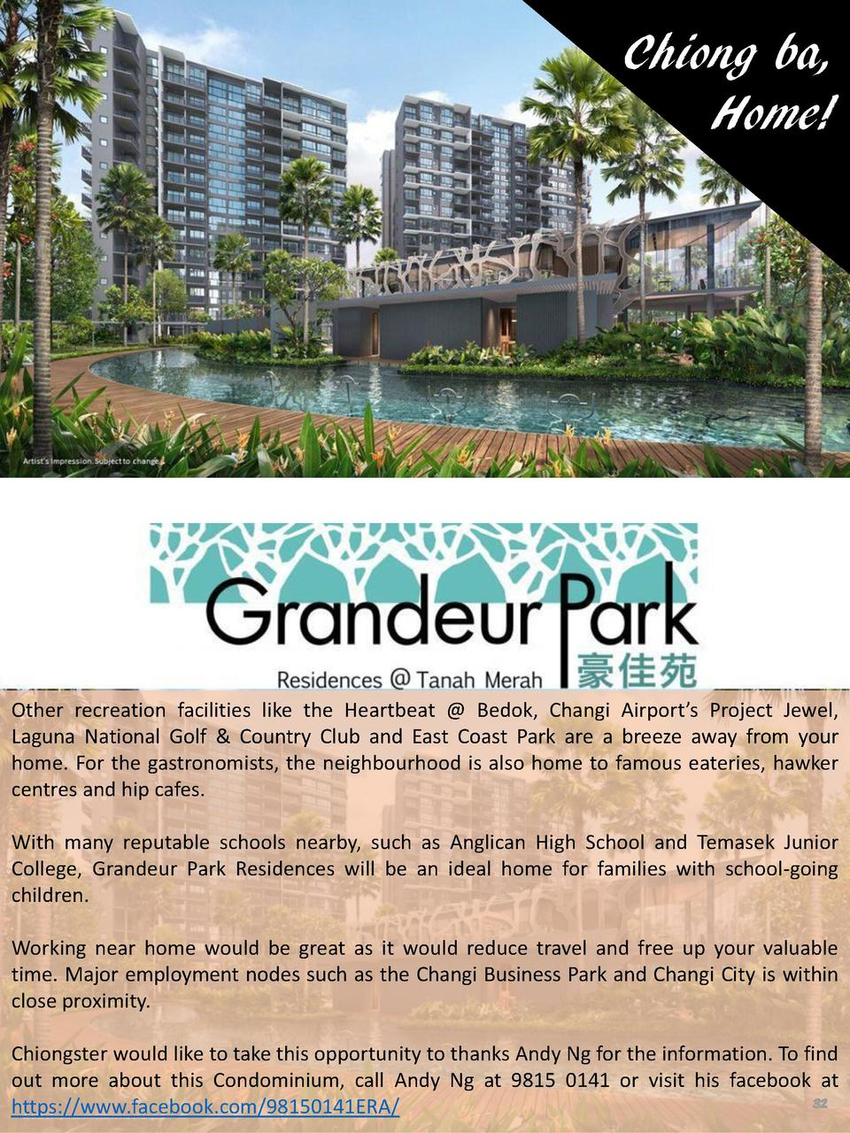 Chiong ba, Home   Other recreation facilities like the Heartbeat   Bedok, Changi Airport   s Project Jewel, Laguna Nationa...