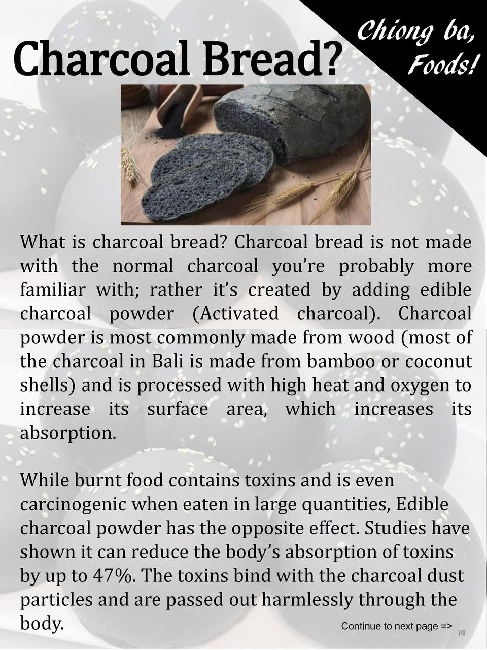 Charcoal Bread   Chiong ba, Foods   What is charcoal bread  Charcoal bread is not made with the normal charcoal you   re p...