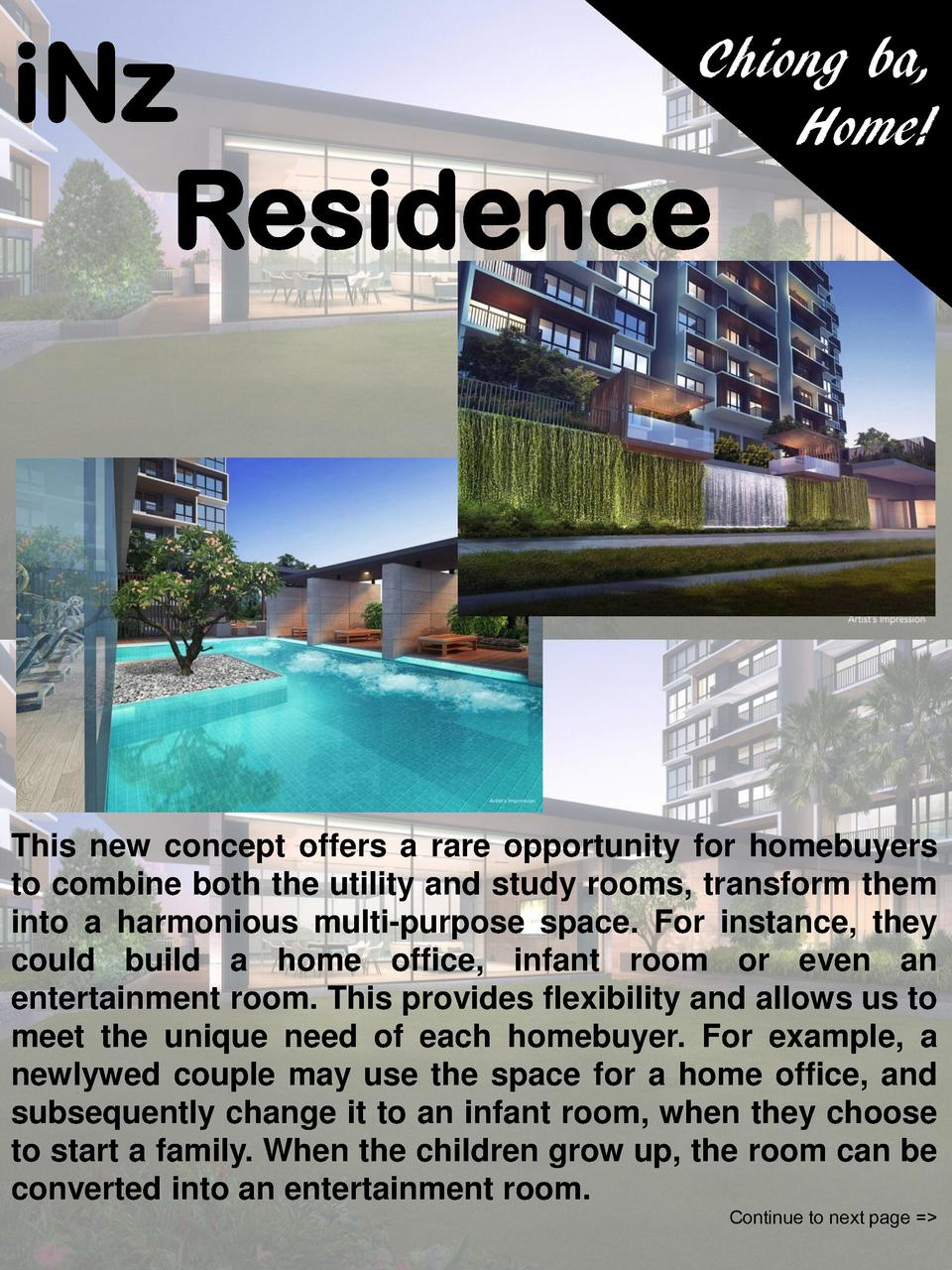 iNz Residence  Chiong ba, Home   This new concept offers a rare opportunity for homebuyers to combine both the utility and...