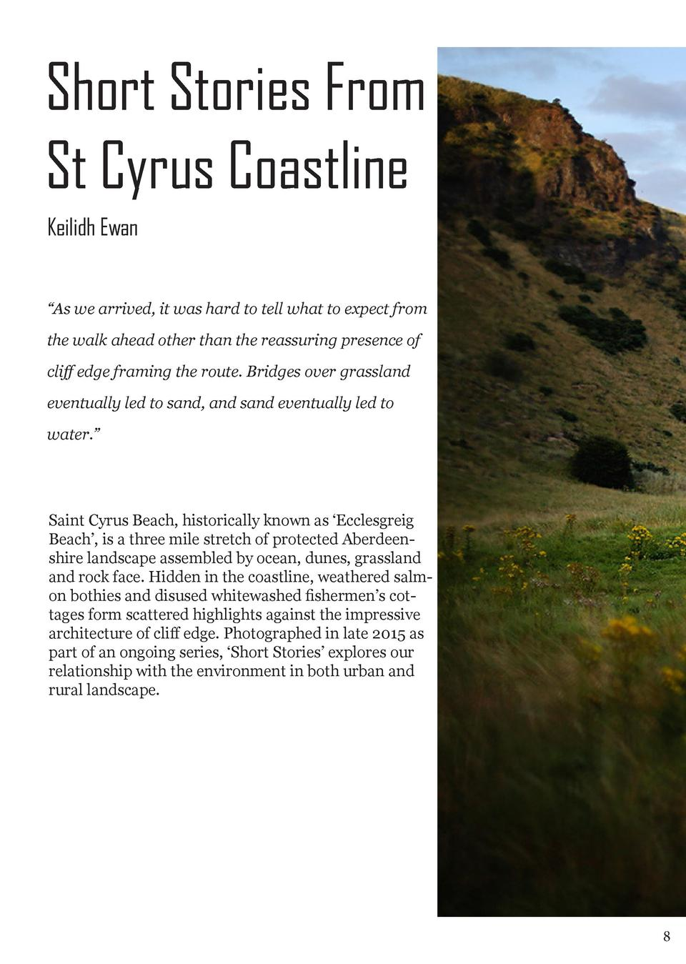 Short Stories From St Cyrus Coastline Keilidh Ewan    As we arrived, it was hard to tell what to expect from the walk ahea...