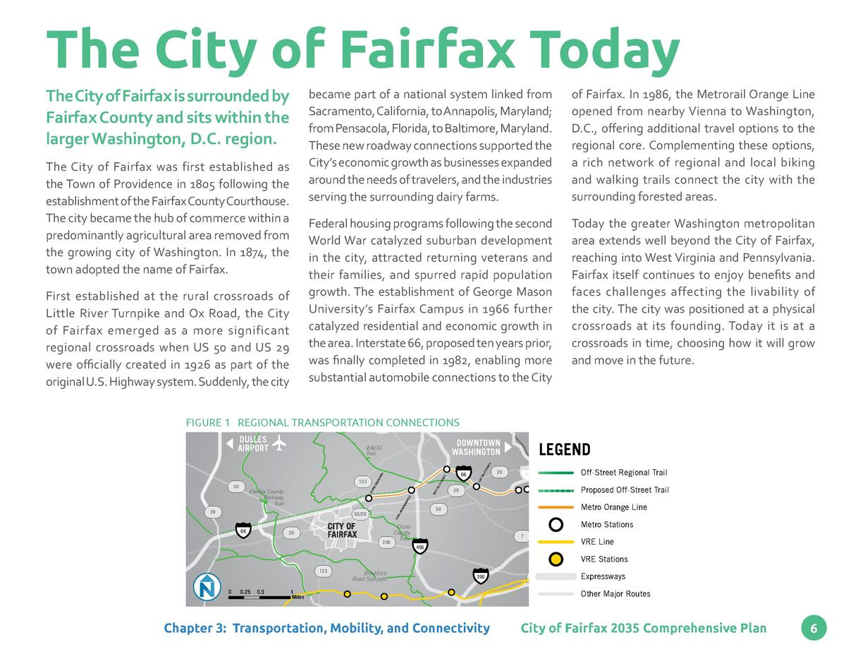 The City of Fairfax Today The City of Fairfax is surrounded by Fairfax County and sits within the larger Washington, D.C. ...