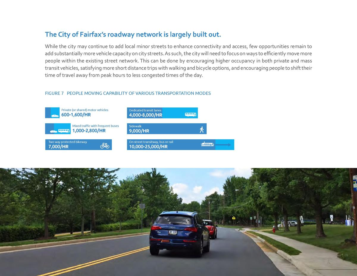 The City of Fairfax   s roadway network is largely built out. While the city may continue to add local minor streets to en...