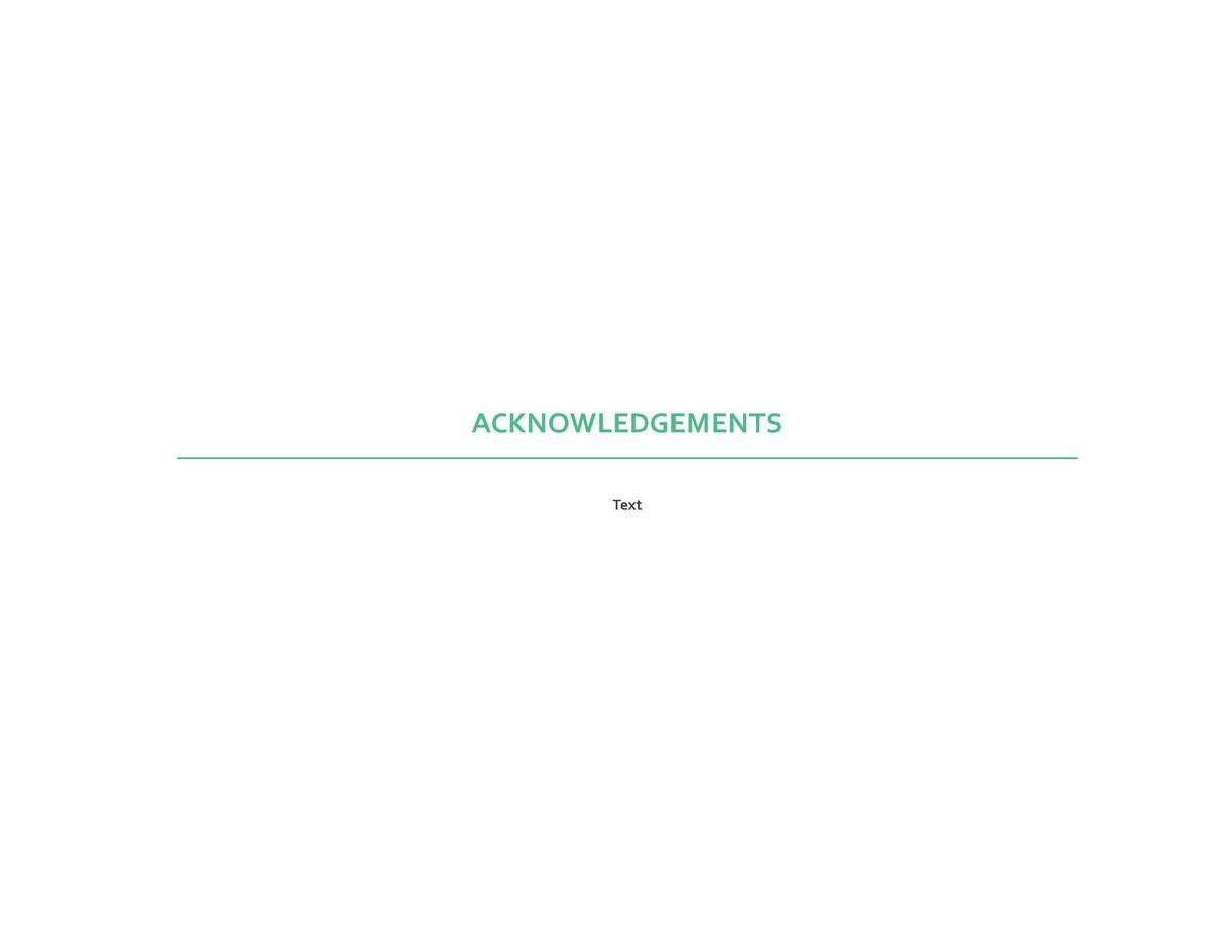 ACKNOWLEDGEMENTS Text