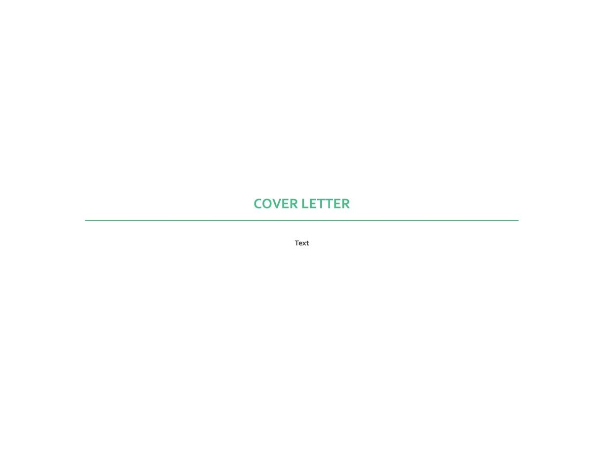 COVER LETTER Text