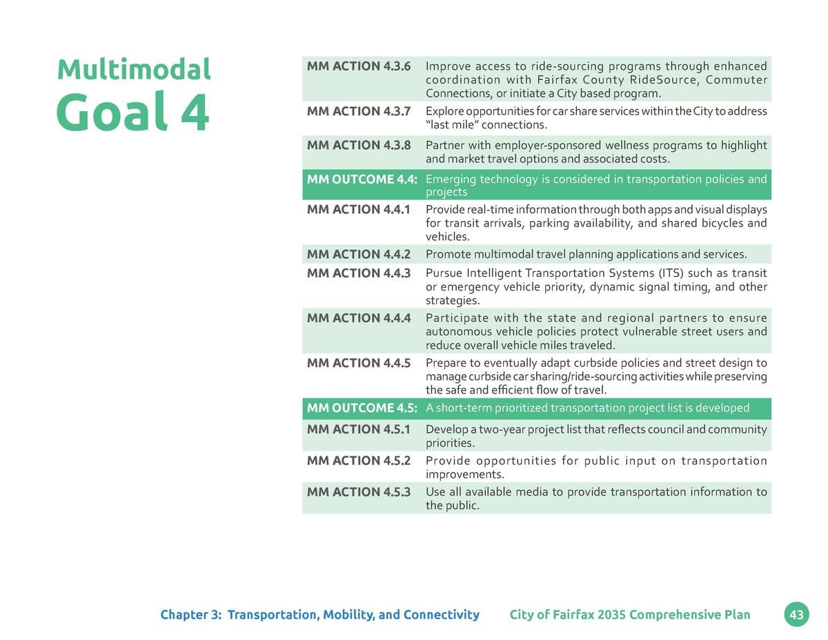 Multimodal  Goal 4  MM ACTION 4.3.6 MM ACTION 4.3.7 MM ACTION 4.3.8  Improve access to ride-sourcing programs through enha...
