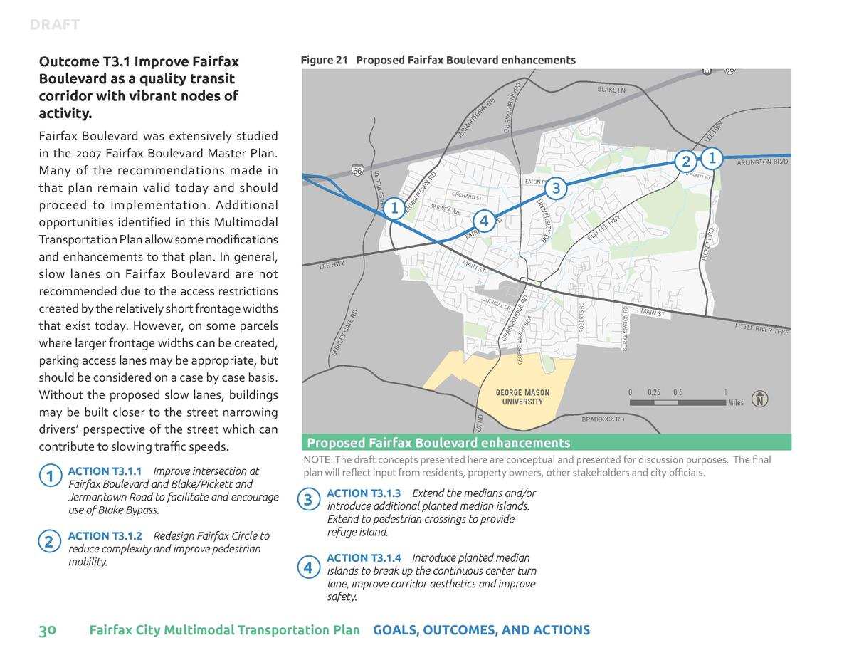 DRAFT  2  30  ACTION T3.1.2    Redesign Fairfax Circle to reduce complexity and improve pedestrian mobility.  ORCHA  RD ST...