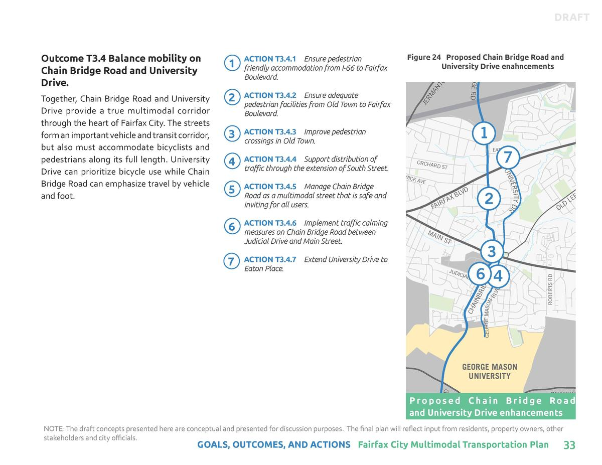 DRAFT CH AIN  Figure 24 Proposed Chain Bridge Road and BLAKE LN University Drive enahncements D  1  Together, Chain Bridge...