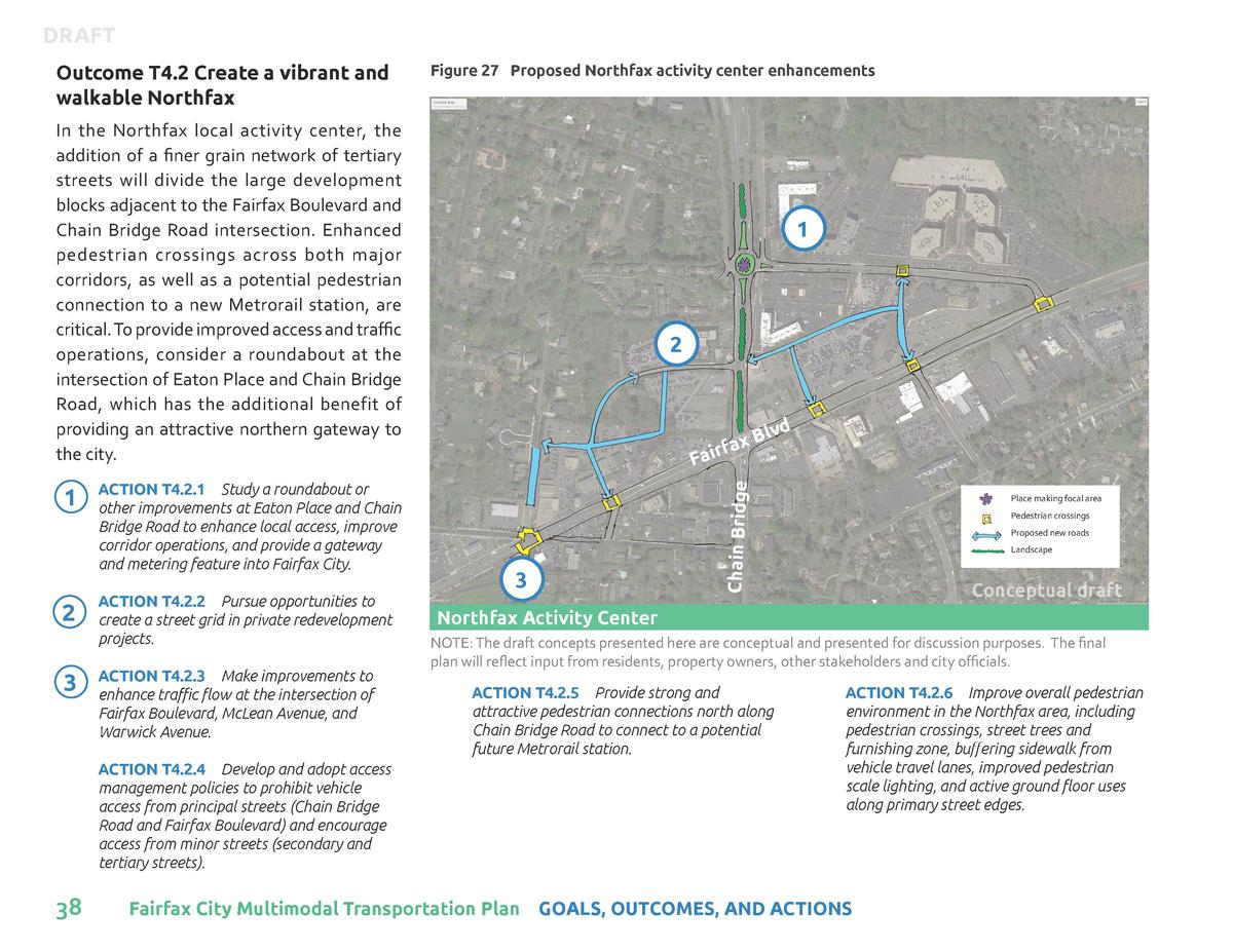 DRAFT Figure 27 Proposed Northfax activity center enhancements  In the Northfax local activity center, the addition of a f...