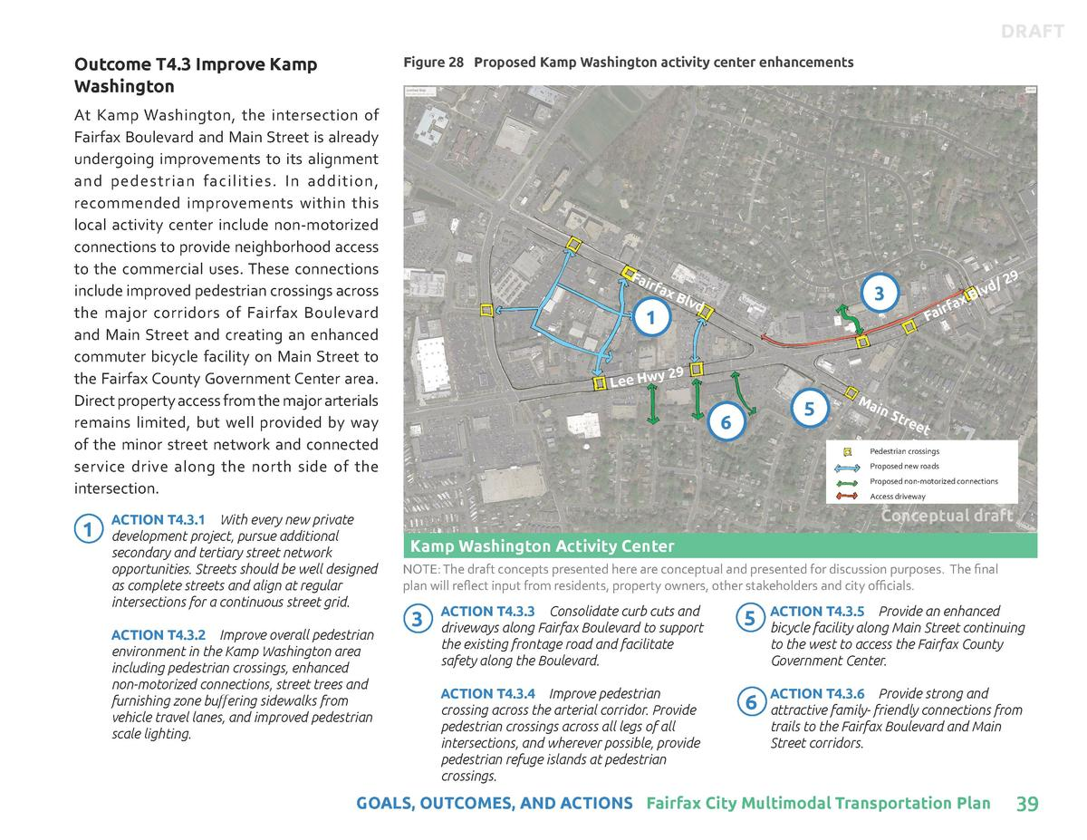 DRAFT Outcome T4.3 Improve Kamp Washington  Figure 28 Proposed Kamp Washington activity center enhancements  At Kamp Washi...
