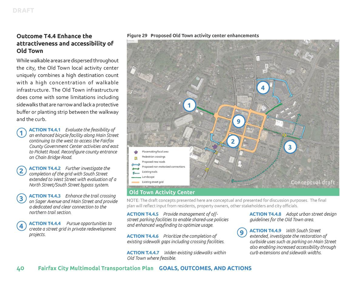 DRAFT  Outcome T4.4 Enhance the attractiveness and accessibility of Old Town  Figure 29 Proposed Old Town activity center ...
