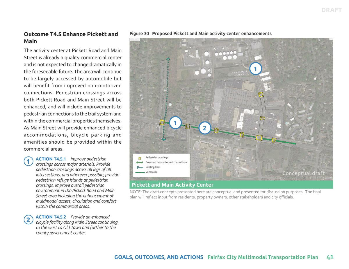 DRAFT  Outcome T4.5 Enhance Pickett and Main  Figure 30 Proposed Pickett and Main activity center enhancements  The activi...