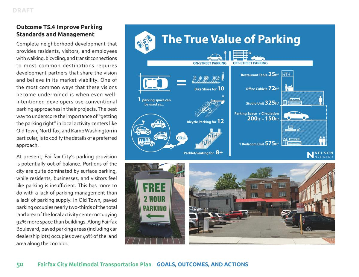 DRAFT Outcome T5.4 Improve Parking Standards and Management Complete neighborhood development that provides residents, vis...
