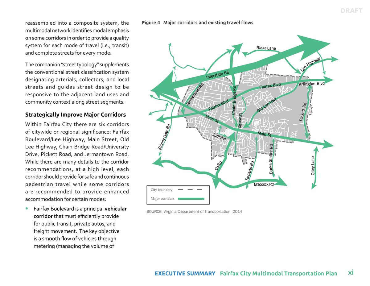 DRAFT reassembled into a composite system, the multimodal network identifies modal emphasis on some corridors in order to ...
