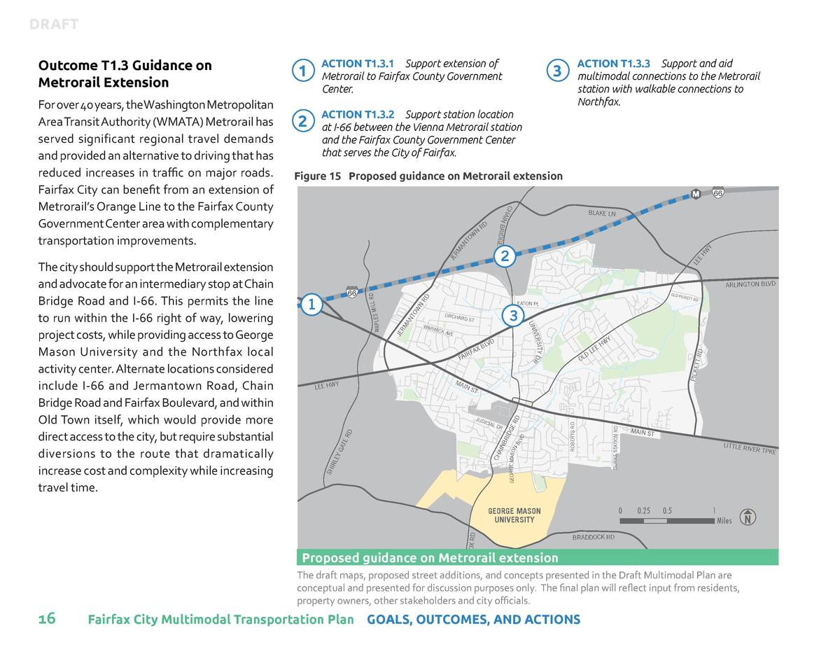 DRAFT  2  ACTION T1.3.2    Support station location at I-66 between the Vienna Metrorail station and the Fairfax County Go...