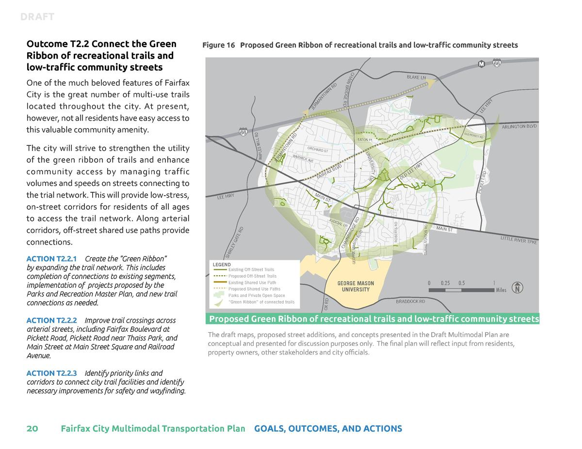 DRAFT     Figure 16 Proposed Green Ribbon of recreational trails and low-traffic community streets  HW Y LE E  JE RM AN TO...