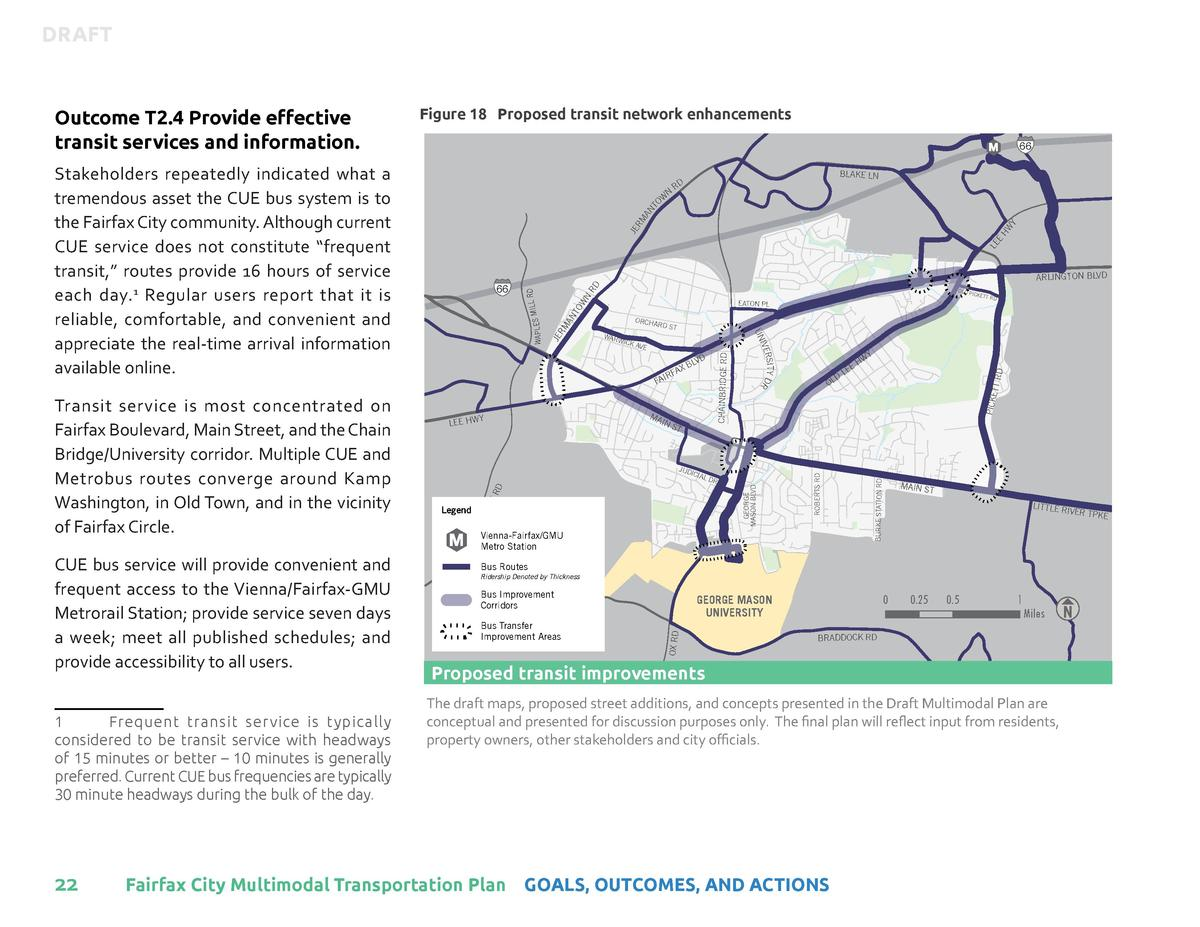 DRAFT     Figure 18 Proposed transit network enhancements  1  Frequent transit service is typically considered to be trans...
