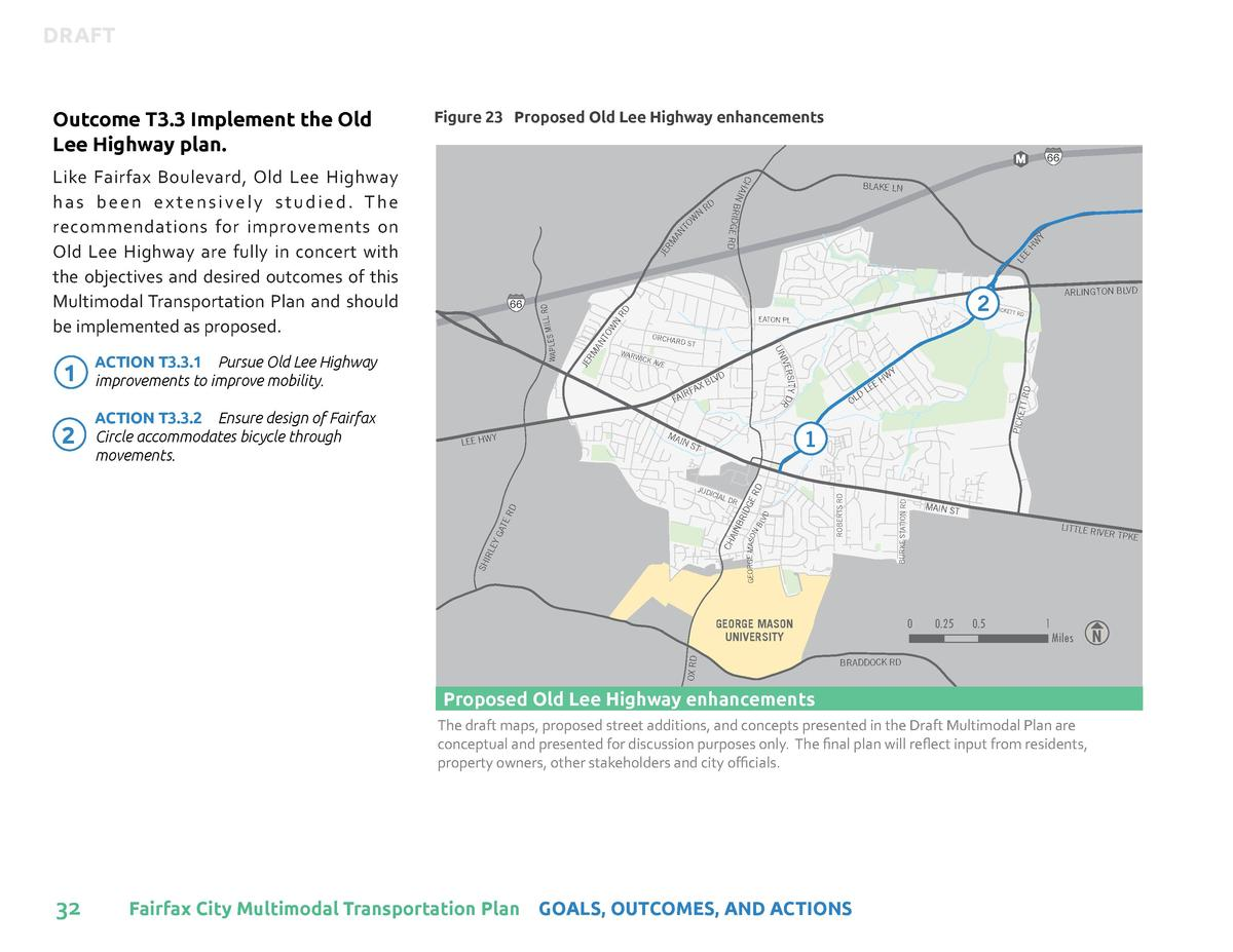 DRAFT     Figure 23 Proposed Old Lee Highway enhancements  HW Y LE E  JE RM AN TO RD  RD  RD ST  ICK A VE  CH  AIN  GA TE ...
