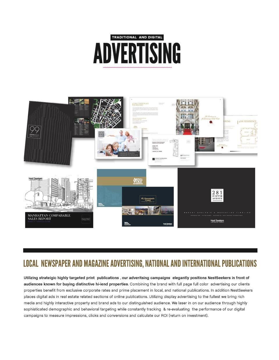 TRADITIONAL AND DIGITAL  ADVERTISING  M  MANHATTAN COMPARABLE SALES REPORT  A  R  K  E  T  P R E P A R E D  A  N  F O R   ...
