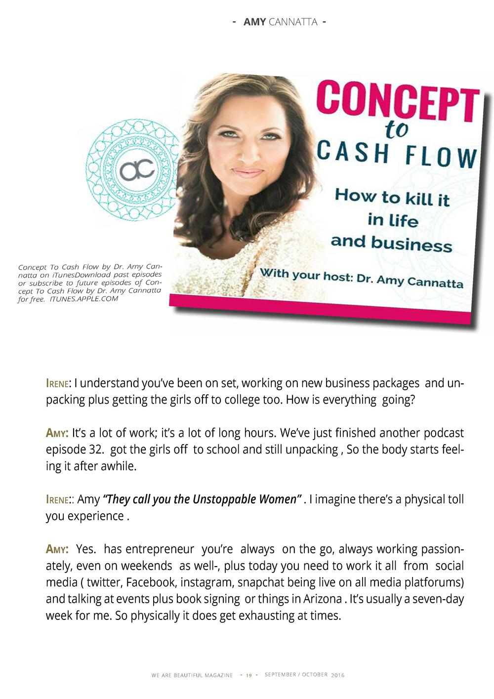 - AMY CANNATTA -  Concept To Cash Flow by Dr. Amy Cannatta on iTunesDownload past episodes or subscribe to future episodes...