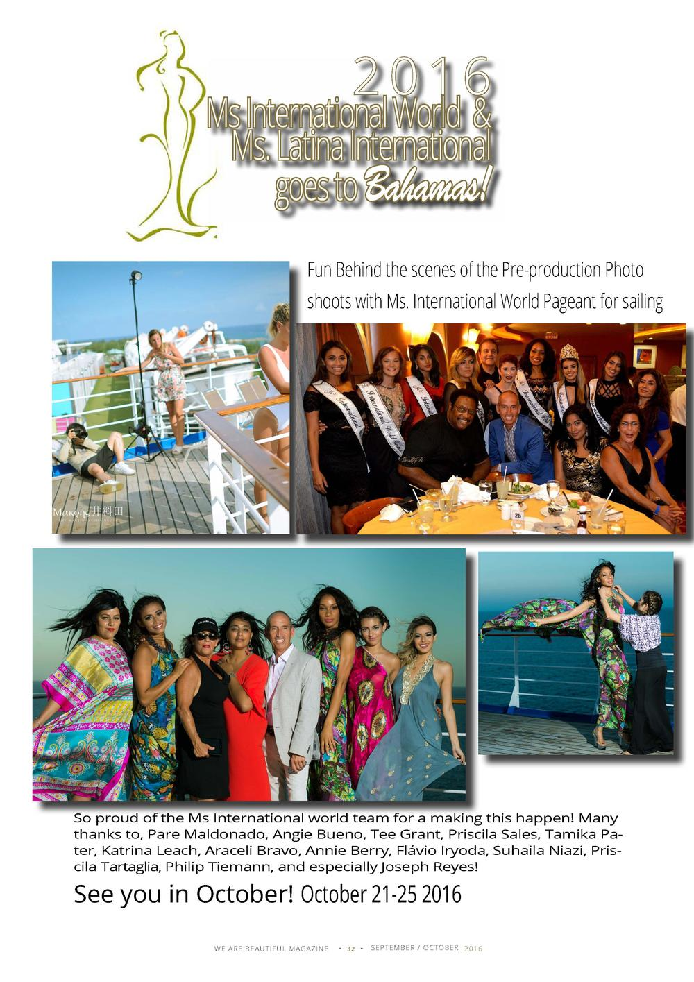 2 0 16  Ms International World   Ms. Latina International goes to Bahamas  Fun Behind the scenes of the Pre-production Pho...