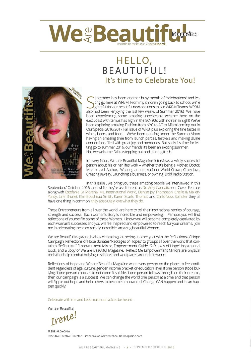 Are  We Beautiful  Magazine  It   s time to make our Voices Heard   H E L LO, B E AU T U F U L    It   s time to Celebrate...