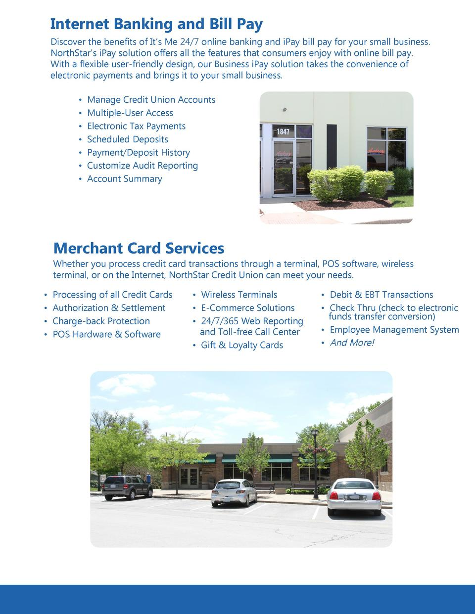 Business Services - NorthStar Credit Union