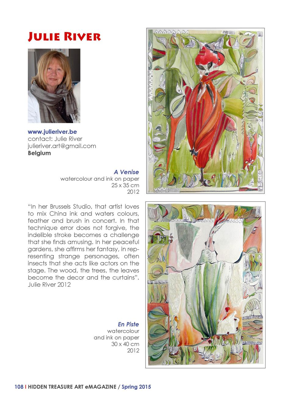 Julie River  www.julieriver.be contact  Julie River julieriver.art gmail.com Belgium A Venise  watercolour and ink on pape...