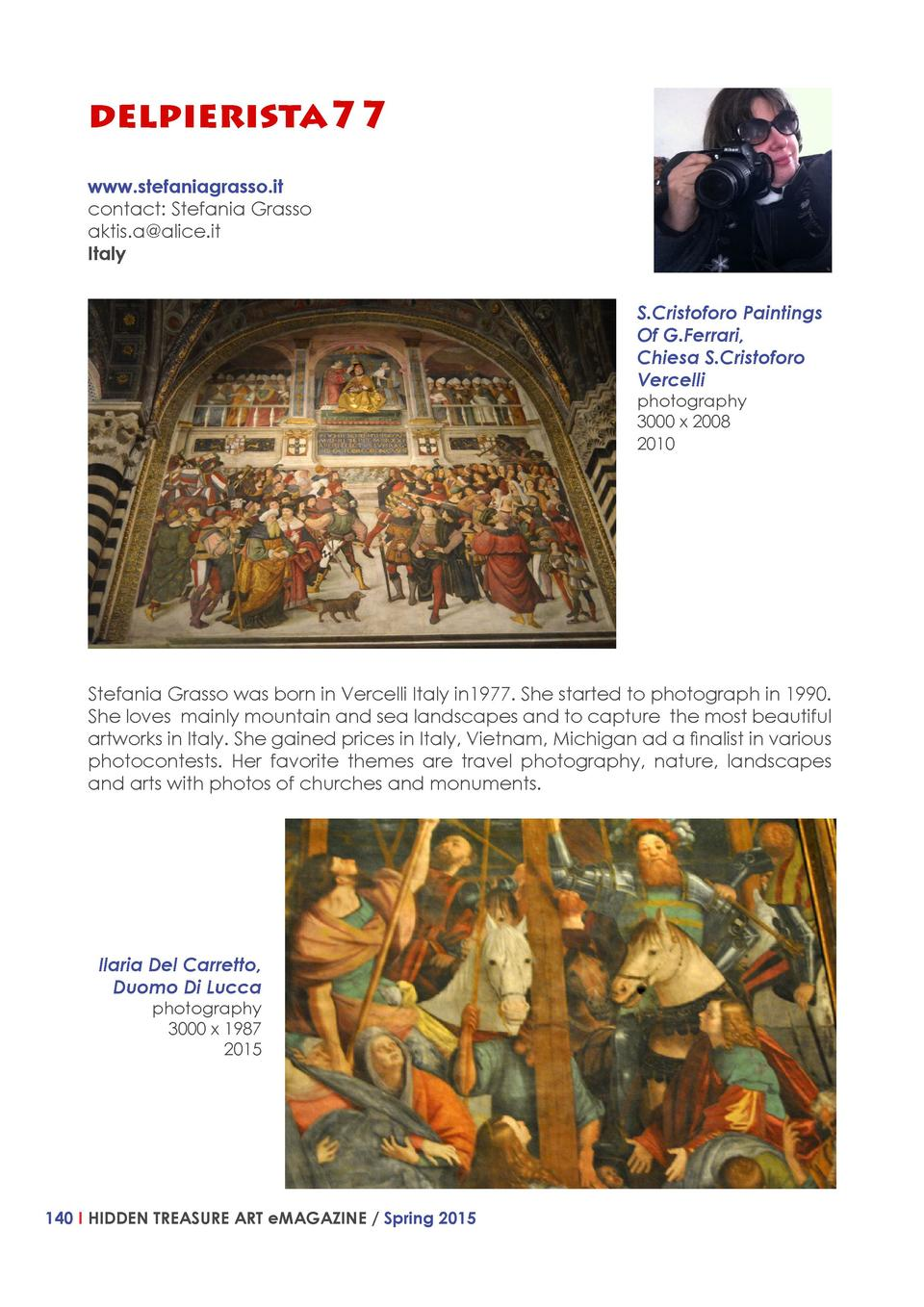 delpierista77 www.stefaniagrasso.it contact  Stefania Grasso aktis.a alice.it Italy S.Cristoforo Paintings Of G.Ferrari, C...