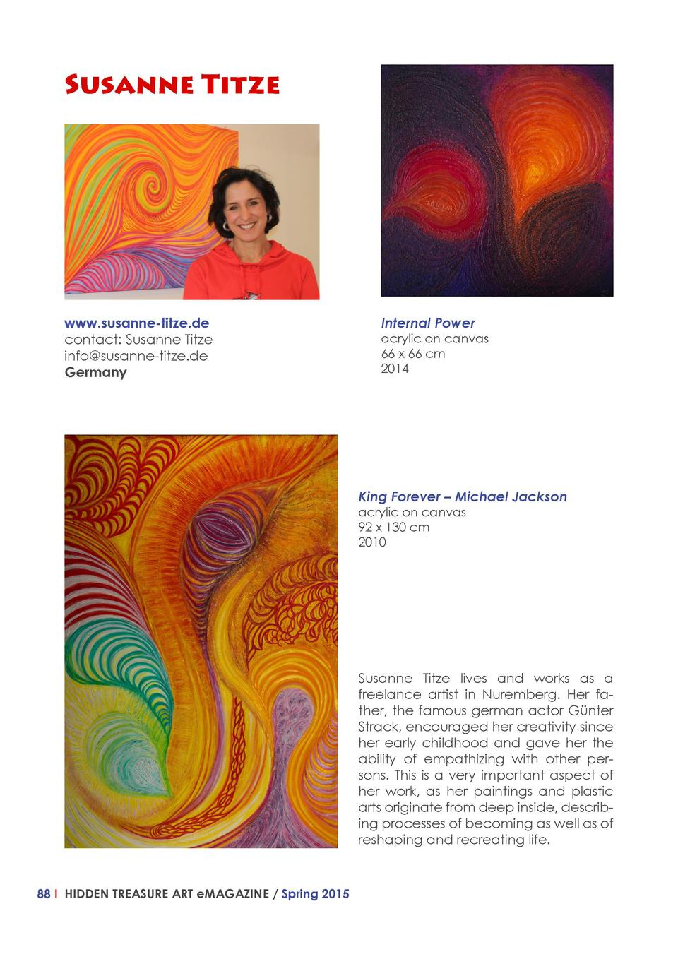 Susanne Titze  www.susanne-titze.de contact  Susanne Titze info susanne-titze.de Germany  Internal Power   acrylic on canv...