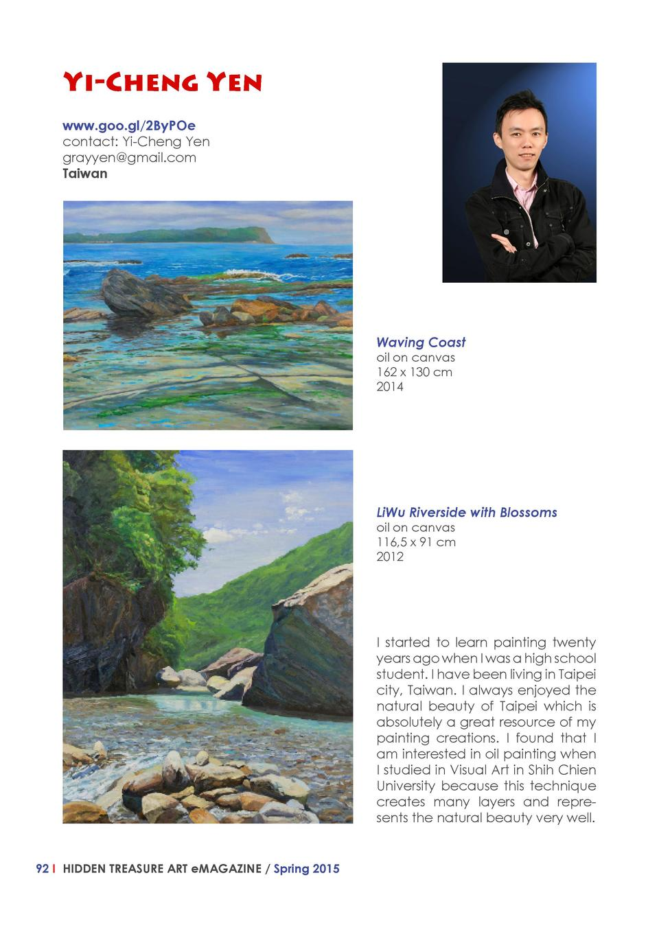 Yi-Cheng Yen www.goo.gl 2ByPOe contact  Yi-Cheng Yen grayyen gmail.com Taiwan  Waving Coast oil on canvas 162 x 130 cm 201...