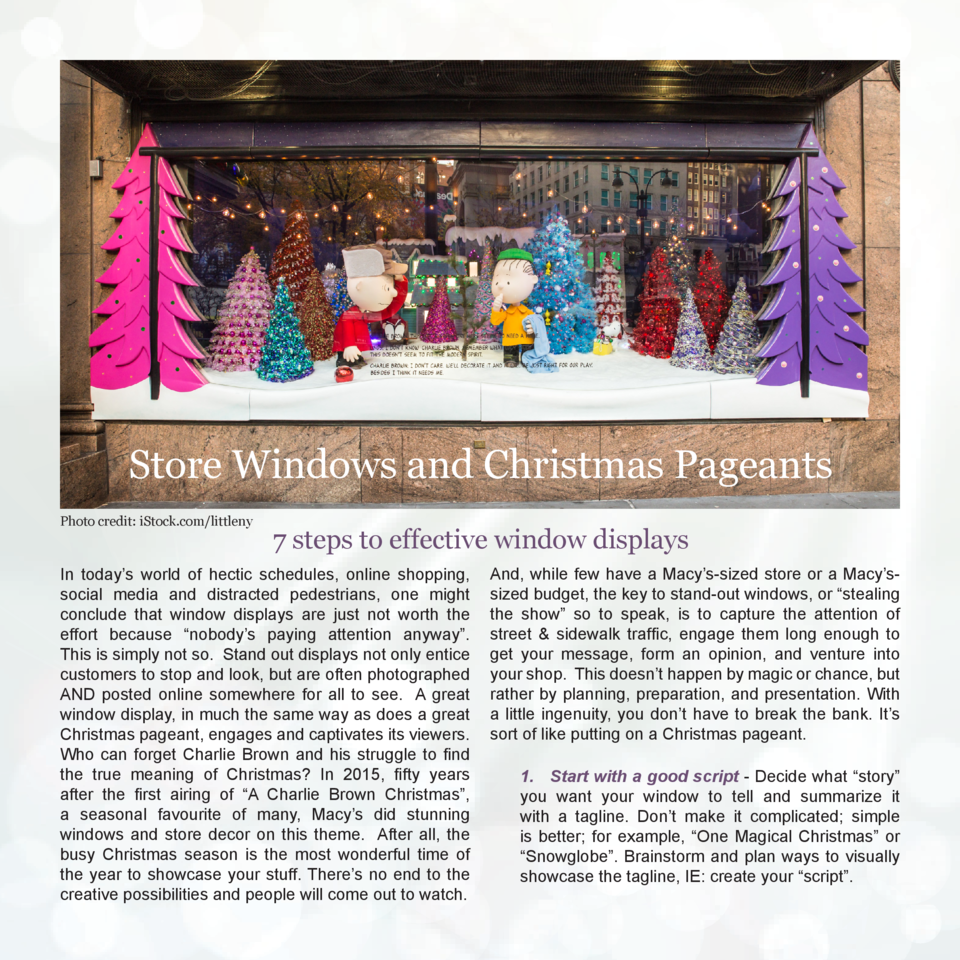 Store Windows and Christmas Pageants Photo credit  iStock.com littleny  7 steps to effective window displays  In today   s...