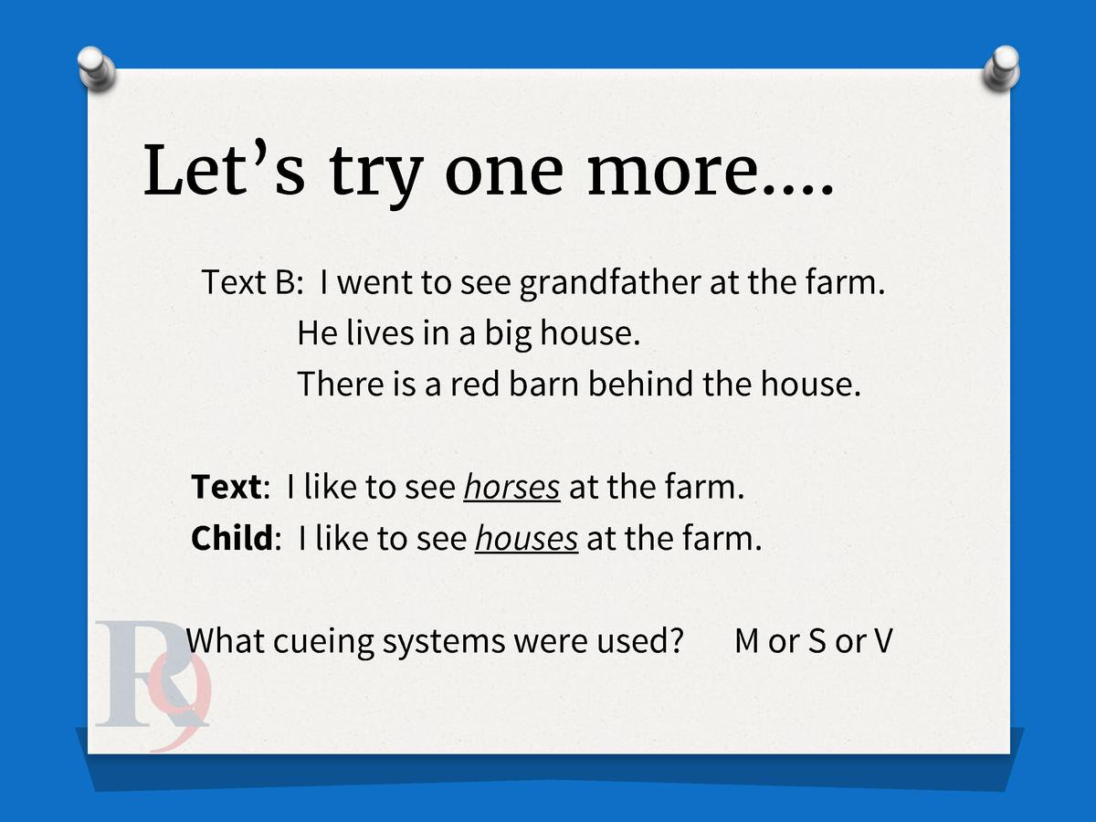 Let   s try one more   . Text B  I went to see grandfather at the farm. He lives in a big house. There is a red barn behin...