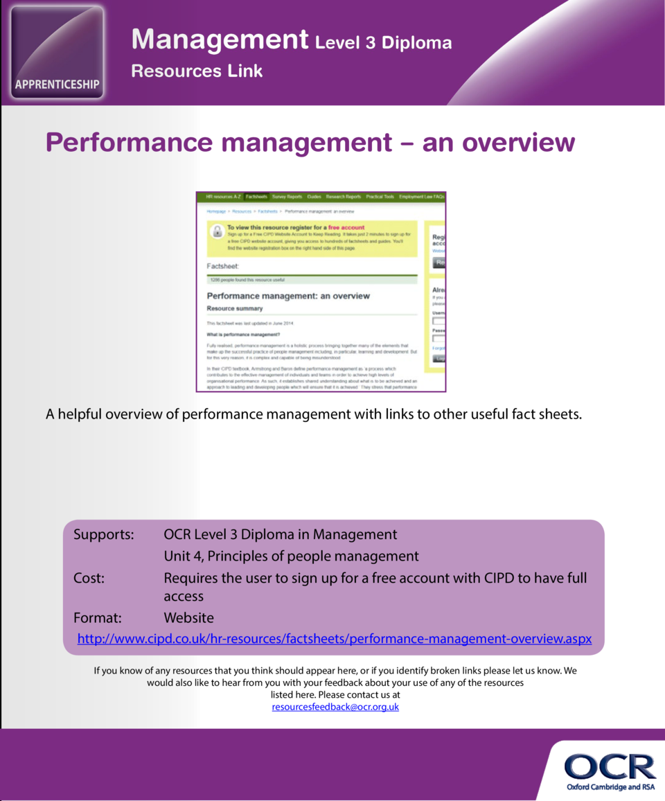 Managing team conflict by Cynthia Phillips  Performance management     an overview  A useful overview of the issues which ...