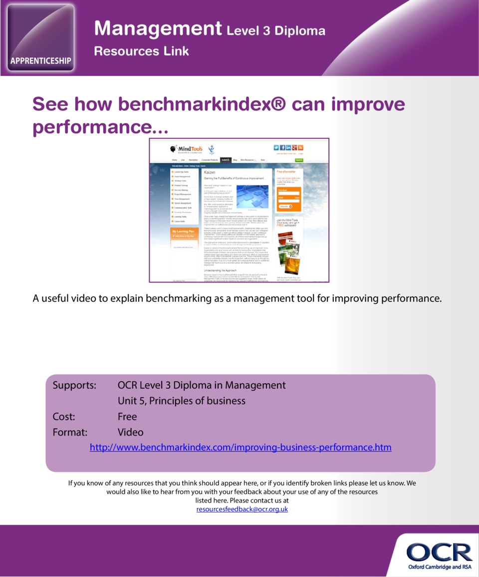 See how benchmarkindex   can improve performance...  Resources Index Click on a resource to go to the appropriate page. Un...