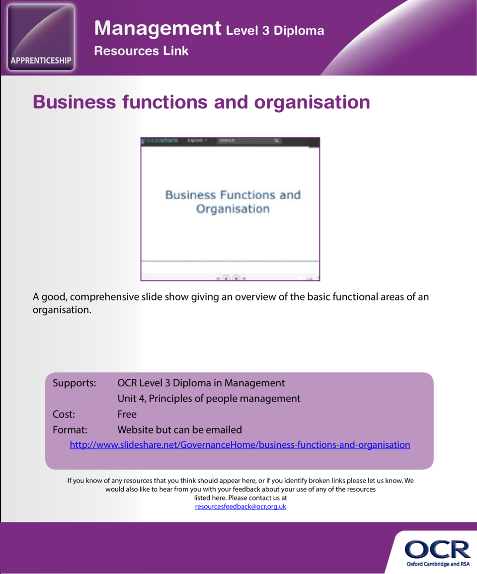 Decision making for principles of management  Business functions and organisation  A slide show with commentary and explan...