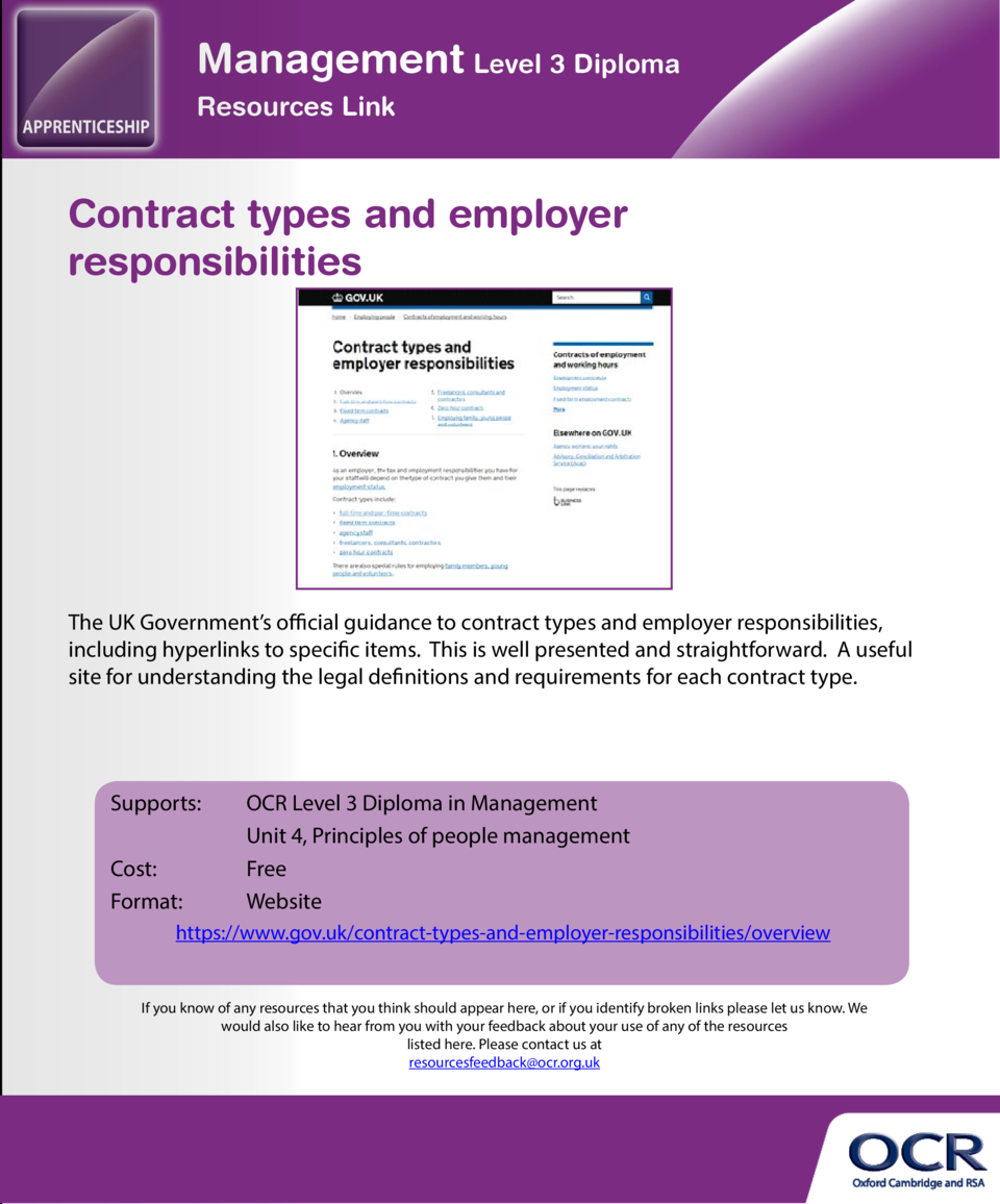 Basic rights at work  Contract types and employer responsibilities  A comprehensive website covering all areas of employme...
